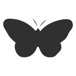 Mariposa simplista silueta de insectos