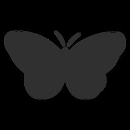 Silhueta de inseto borboleta simplista