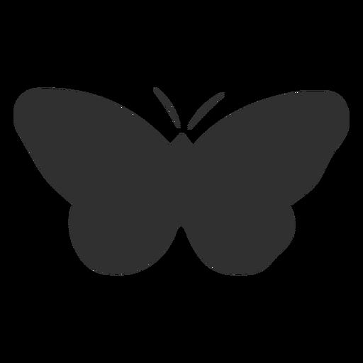 Mariposa simplista silueta de insectos Transparent PNG