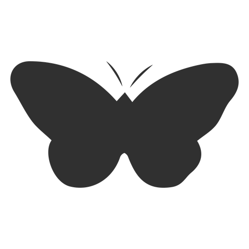 Simplistic butterfly insect silhouette Transparent PNG