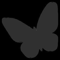 Silhueta de borboleta simplista