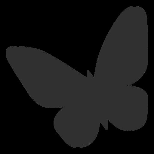Silhueta de borboleta simplista Transparent PNG