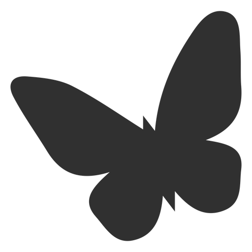Simplistic butterfly silhouette Transparent PNG