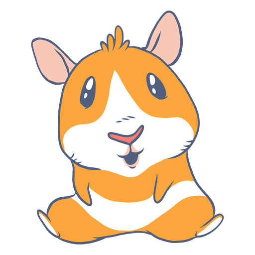 Sitting guinea pig cartoon Transparent PNG