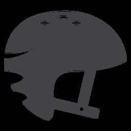 Ícone plana de capacete de skate