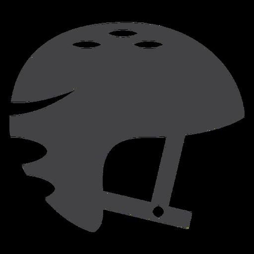Ícone plana de capacete de skate Transparent PNG