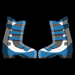 Icono de botas de esquí
