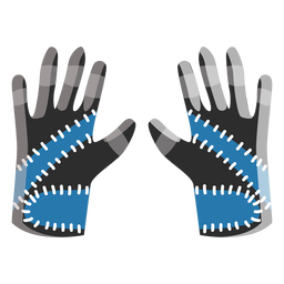 Ski gloves icon
