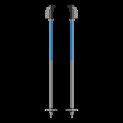 Icono de bastones de esqui Transparent PNG