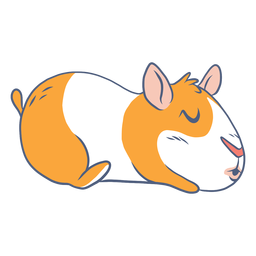 Desenho de porco da Guiné adormecida