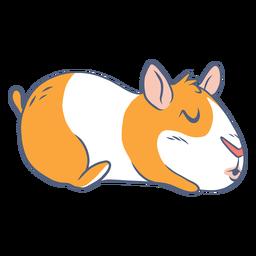 Dibujos animados durmiendo conejillo de indias