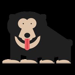 Ilustración del oso perezoso