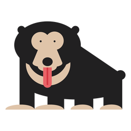 Sloth bear illustration