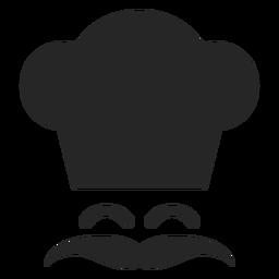 Chef sonriente cara plana icono
