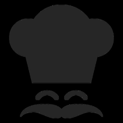Icono plano de cara de chef sonriente
