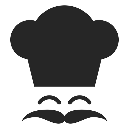 Smiling chef face flat icon Transparent PNG