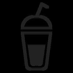 Ícone plana de xícara de smoothie