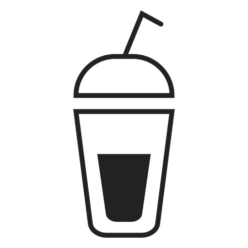 Smoothie cup flat icon