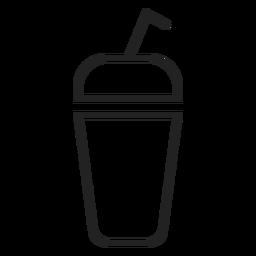 Icono de la taza de batido