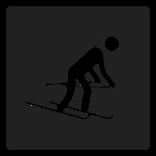 Esqui de neve ícone quadrado Transparent PNG