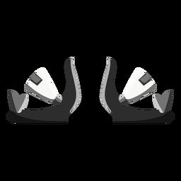 Ícone de ligações de snowboard