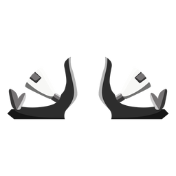 Snowboard bindings icon