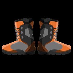 Icono de botas de snowboard