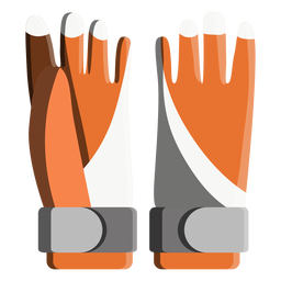 Snowboard gloves icon