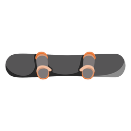 Ícone de vista superior de snowboard