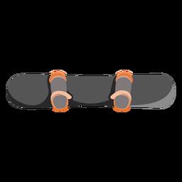 Icono de vista superior de snowboard