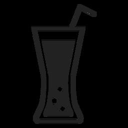 Ícone plana de vidro de refrigerante