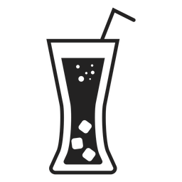Ícone plano de copo de refrigerante
