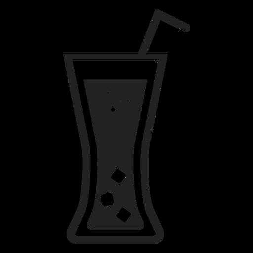 Ícone plana de vidro de refrigerante Transparent PNG