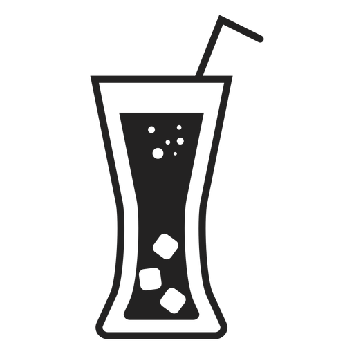 Soft drink glass flat icon Transparent PNG