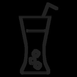 Icono de vaso de refresco