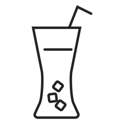 Soft drink glass icon