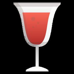Sekt Rotwein Glas Symbol