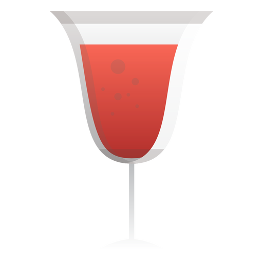 Sparkling red wine glass icon Transparent PNG
