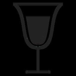 Ícone plana de copo de vinho espumante