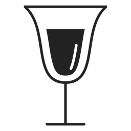 Sparkling wine glass flat icon