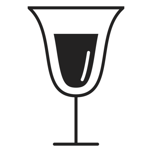 Sparkling wine glass flat icon Transparent PNG