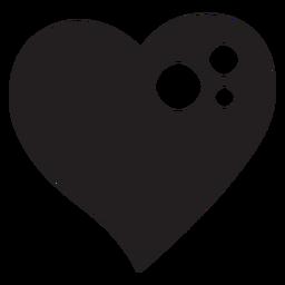 Silhueta de coração brilhante
