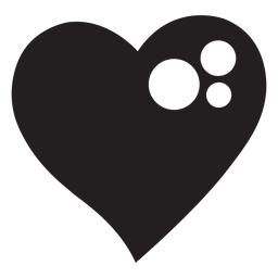 Sparkly heart silhouette