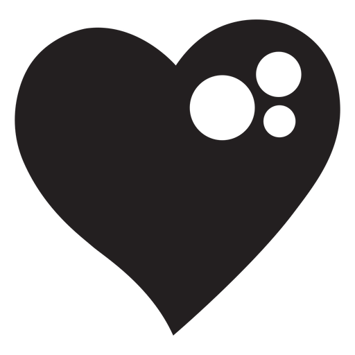 Silueta de corazón brillante Transparent PNG