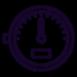 Icono de trazo del medidor de velocidad