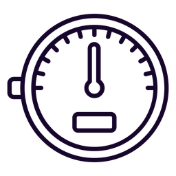 Speed meter stroke icon