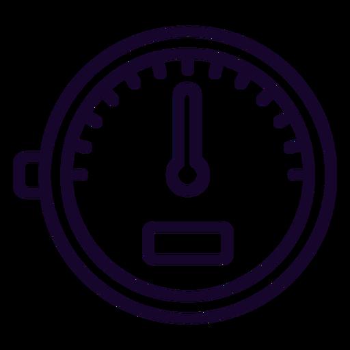 Icono de trazo del medidor de velocidad Transparent PNG