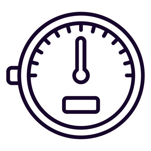 Speed meter stroke icon Transparent PNG