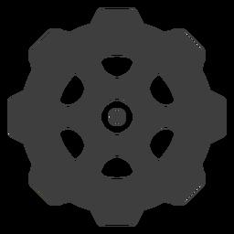 Icono de engranaje de piñón