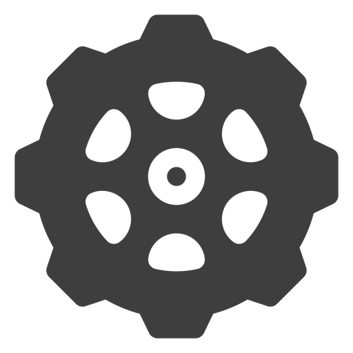 Sprocket cog icon Transparent PNG